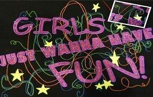 GirlsJustWannaHaveFunGlitter